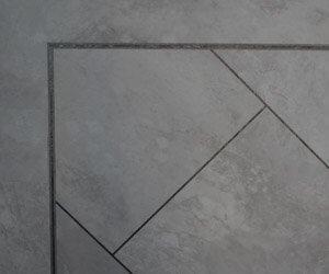 Vinyl tile corner