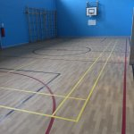 gym hall flooring scotland
