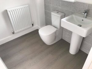 bathroom grey laminate