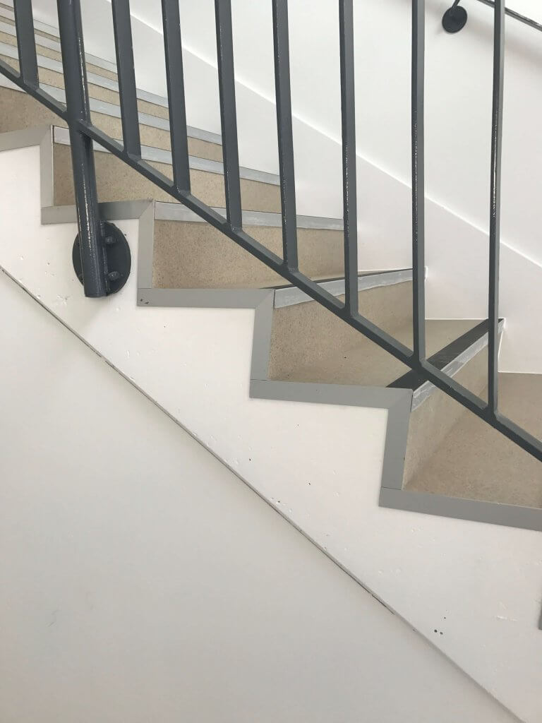 wall on stairs