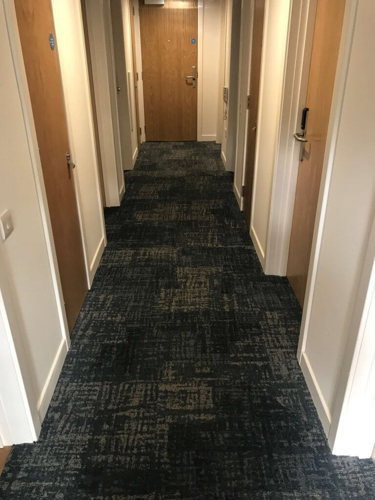 carpeted main hall