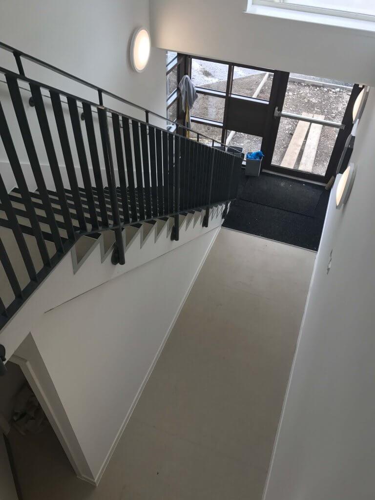 side stairs corridor wall