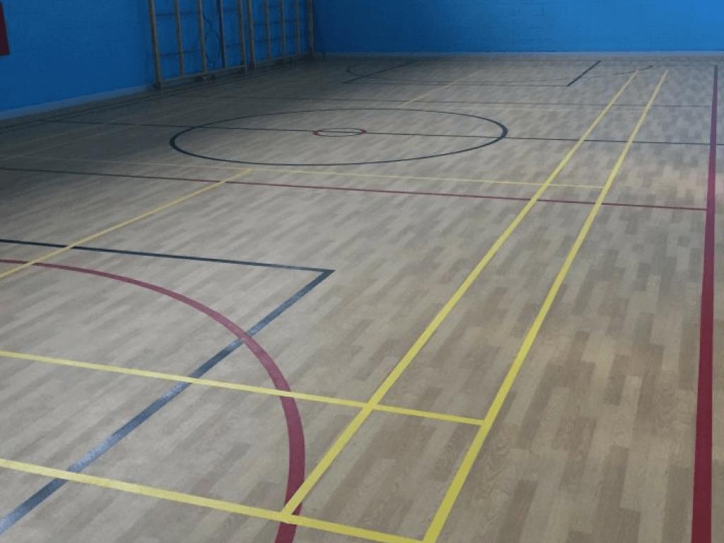sidlaw gym hall wooden flooring