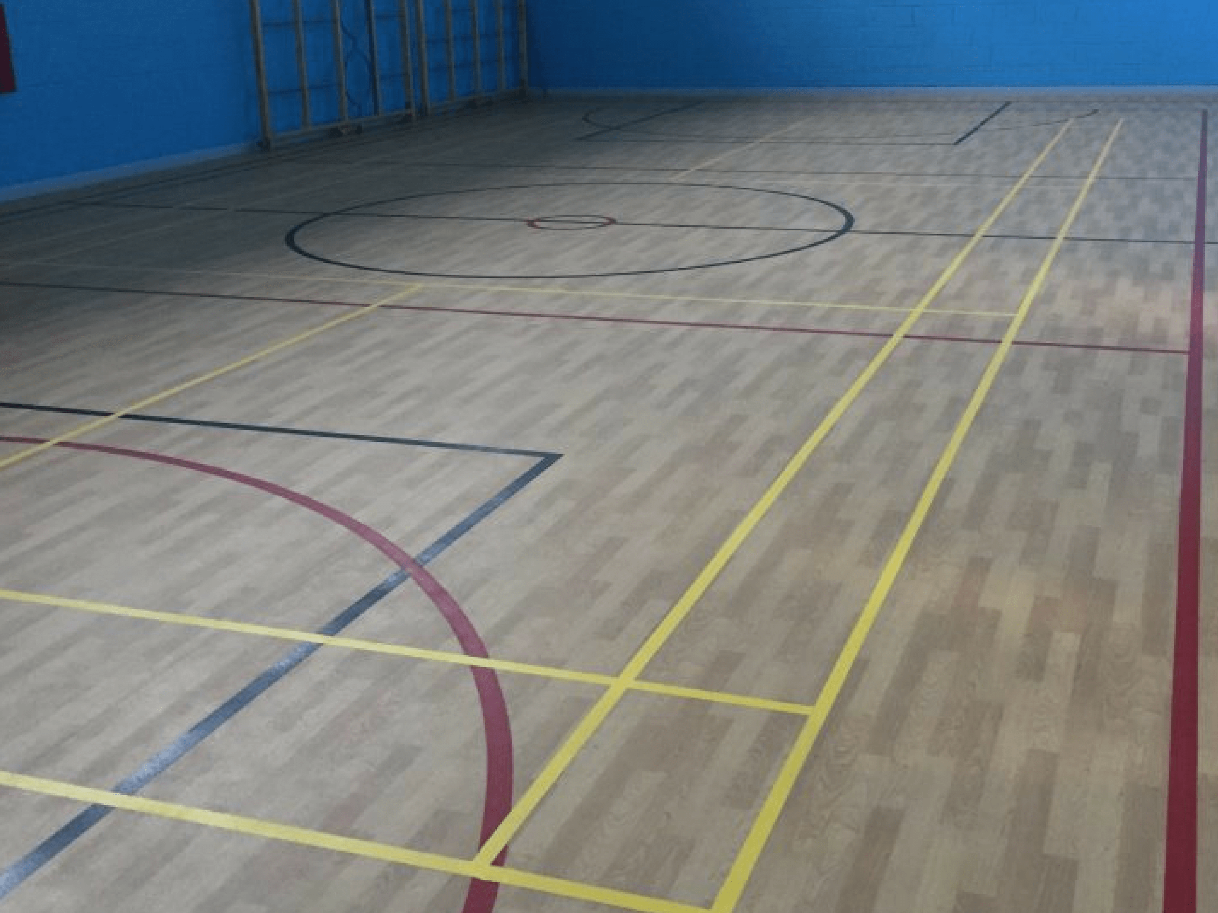 sidlaw gym hall wooden flooring
