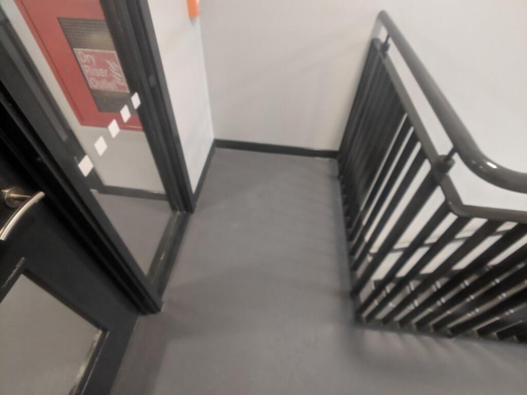 communul stairwell and corridor commercial flooring 1