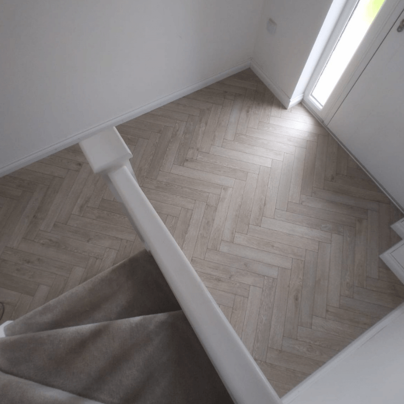 herringbone and carpet